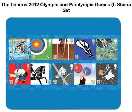 2012 Olympic Stamp Set