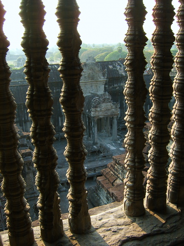 A view from the 2nd story of Angkor Wat, beautiful!