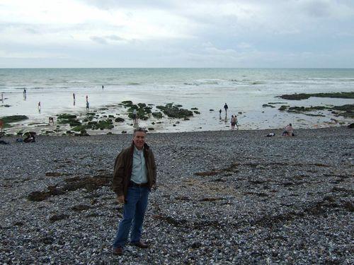 Rob on the rocky beach